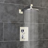 Thermostatic 1 Way Shower Valve 2 Square Handles with ...